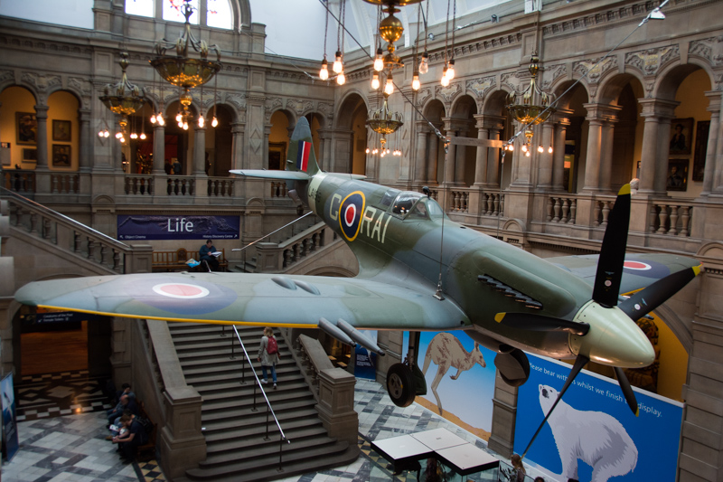 Spitfire in the Kelvingrove Art Gallery