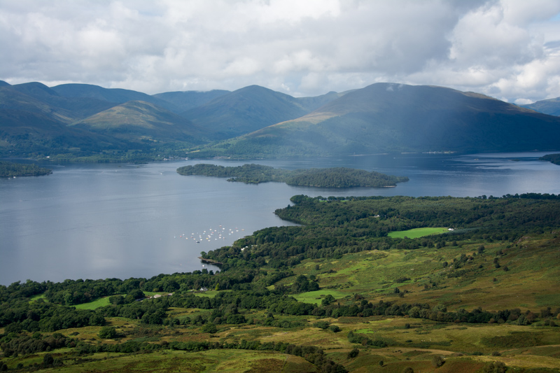 View from Conic Hill over Lock Lomond.